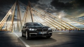 bmw, movement, bridge, luxurious - wallpapers, picture