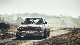 bmw, e30, drift, front view - wallpapers, picture