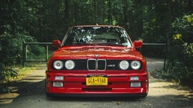bmw, e30, m3, red, tuning - wallpapers, picture