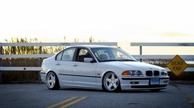 bmw, e46, 325i, 3 series, white, side view - wallpapers, picture