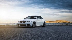 bmw, e92, m3, white, side view - wallpapers, picture
