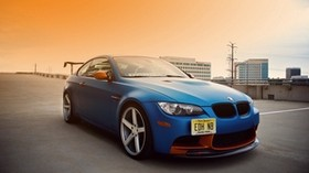 bmw, e92, m3, blue - wallpapers, picture