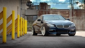 bmw, f13, 650i, black, front view - wallpapers, picture