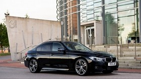 bmw, f30 side view - wallpapers, picture
