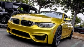 bmw, f82, m4, yellow, front bumper - wallpapers, picture