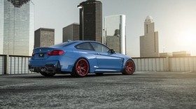 bmw, gtrs4, vorsteiner, blue, rear view - wallpapers, picture