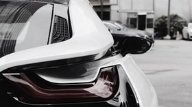 bmw i8, bmw, headlight, rear view, car - wallpapers, picture