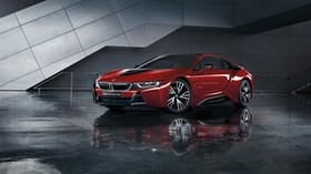 bmw, i8, i12, red, side view - wallpapers, picture