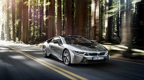 bmw, i8, silver, side view - wallpapers, picture