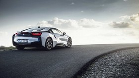 bmw i8, rear view, road - wallpapers, picture