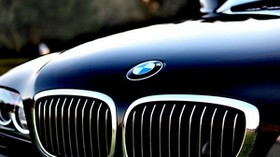 bmw, hood, logo - wallpapers, picture