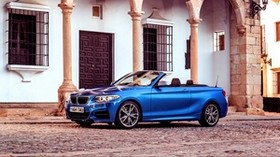 bmw, m235i, uk-spec, f23, convertible, blue, side view - wallpapers, picture
