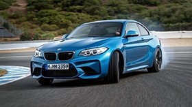 bmw, m2, f87, blue, side view - wallpapers, picture