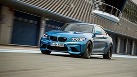 bmw, m2, f87, front view, blue - wallpapers, picture