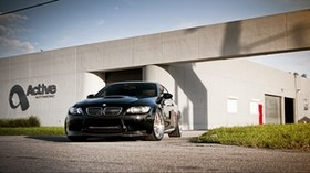 bmw, m3, black, front view - wallpapers, picture