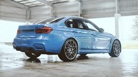 bmw m3 competition, bmw, car, blue, side view - wallpapers, picture