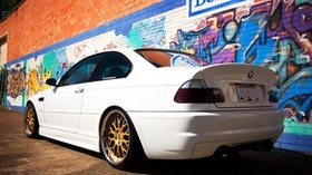bmw, m3, e46, white, tuning - wallpapers, picture