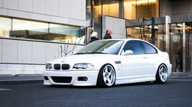 bmw, m3, e46, white, side view - wallpapers, picture