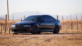 bmw, m3, e46, black, side view - wallpapers, picture