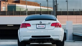 bmw, m3, e92, auto, white, rear view - wallpapers, picture