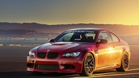 bmw, m3, e92, orange, front, bmw, orange, light, glare - wallpapers, picture