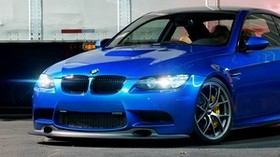 bmw, m3, e92, blue, front view - wallpapers, picture