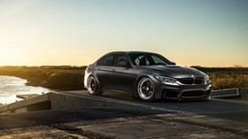 bmw, m3, f80, gray, side view - wallpapers, picture
