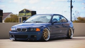 bmw, m3, blue, auto, side view, tuning - wallpapers, picture