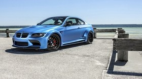 bmw, m3, blue, side view - wallpapers, picture