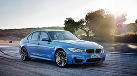 bmw, m3, side view, blue - wallpapers, picture