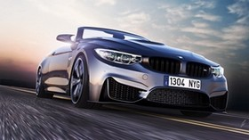 bmw, m4, convertible, front view, bumper - wallpapers, picture