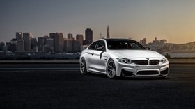 bmw, m4, f82, white, front view - wallpapers, picture