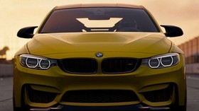 bmw m4 gts, bmw m4, bmw, front view, yellow, car - wallpapers, picture