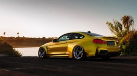 bmw, m4, vorsteiner, gtrs4, golden, side view - wallpapers, picture