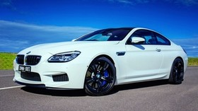 bmw, m6, white, side view - wallpapers, picture