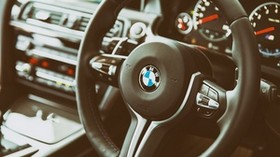 bmw, m6, steering wheel, interior - wallpapers, picture