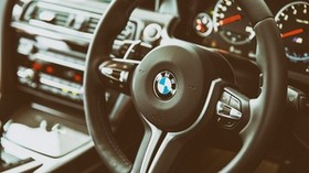 bmw, m6, salon, interior, steering wheel - wallpapers, picture