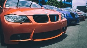 bmw, parking, front bumper - wallpapers, picture
