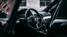 bmw, steering wheel, car, car interior - wallpapers, picture