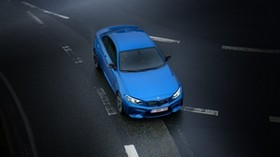 bmw, blue, car, road, street, marking - wallpapers, picture