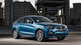 bmw, x4, m40i, blue, side view - wallpapers, picture