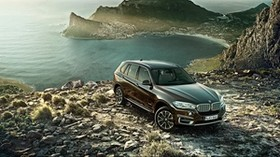 bmw x5, new, bmw, auto, mountains, side view - wallpapers, picture