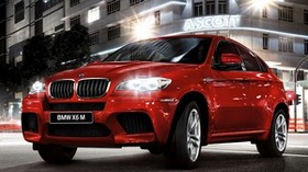 bmw x6, bmw, red, side view - wallpapers, picture