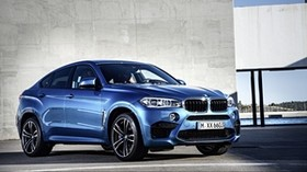 bmw, x6, m, 2015, blue, side view - wallpapers, picture