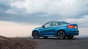 bmw, x6, za-spec, f16, blue, side view - wallpapers, picture