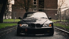 bmw, z3, black, front, front, wet - wallpapers, picture