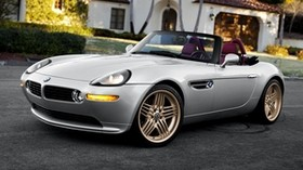 bmw, z8, e52, silver, convertible, side view - wallpapers, picture