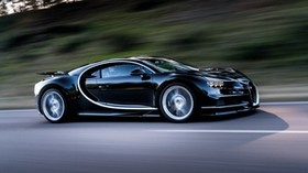 bugatti, chiron, speed, side view - wallpapers, picture