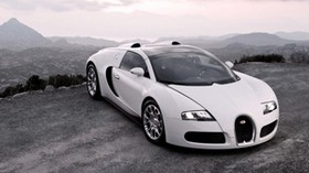 bugatti, veyron, car, sports car, white, hood, lights, luxury - wallpapers, picture