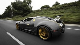 bugatti, veyron side view - wallpapers, picture